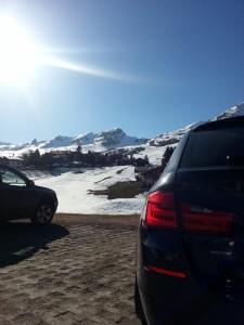 Erste Ausfahrt mit dem 530xd führt nach Arosa (CH)