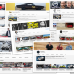 Screenshots of Youtube Channels on Cars